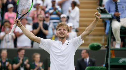 David Goffin stoot na een bloedstollende vijfsetter tegen Medvedev door naar achtste finales op Wimbledon