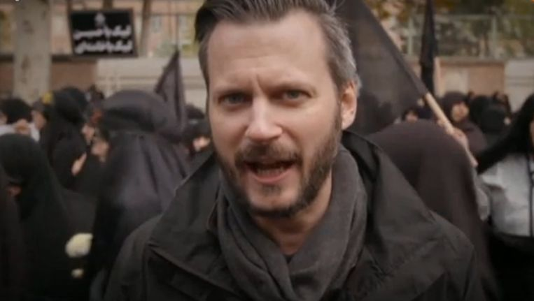 Een still uit Onze Man in Teheran Beeld VPRO