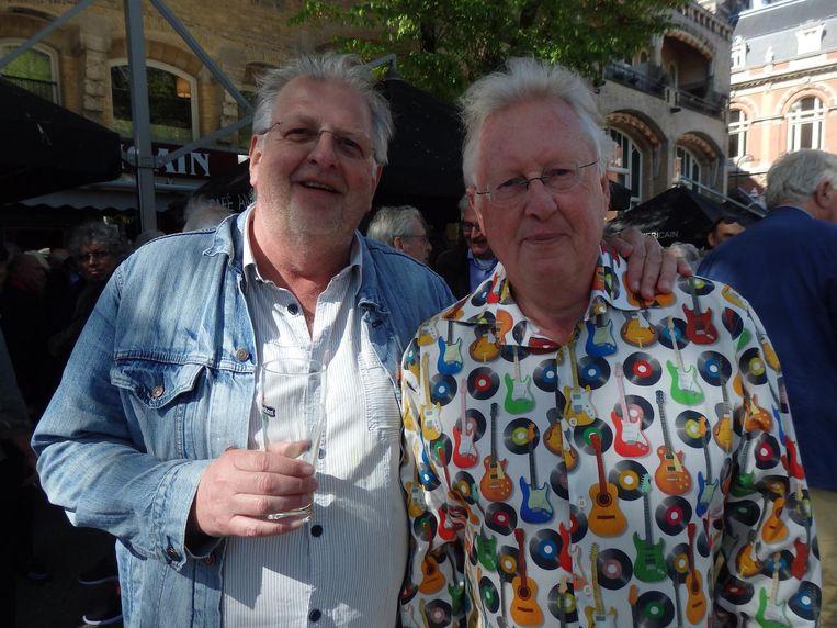 De reünieorganisatoren Kees Baars en Jan-Maarten de Winter. 'Je denkt, elk jaar overlijden er tien, maar dat gebeurt niet' Beeld Schuim