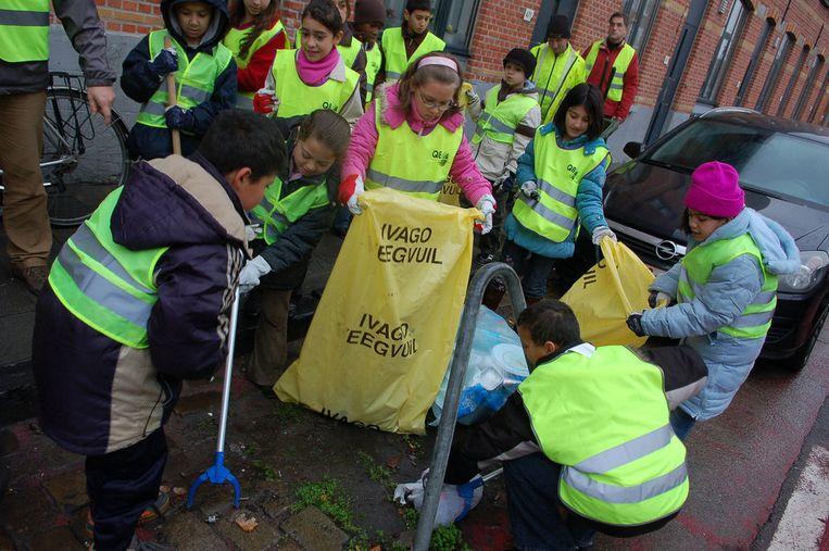 Illustratiefoto van een opruimactie in Gent.