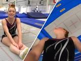 Niamh traint 10 keer per week voor het NK trampolinespringen