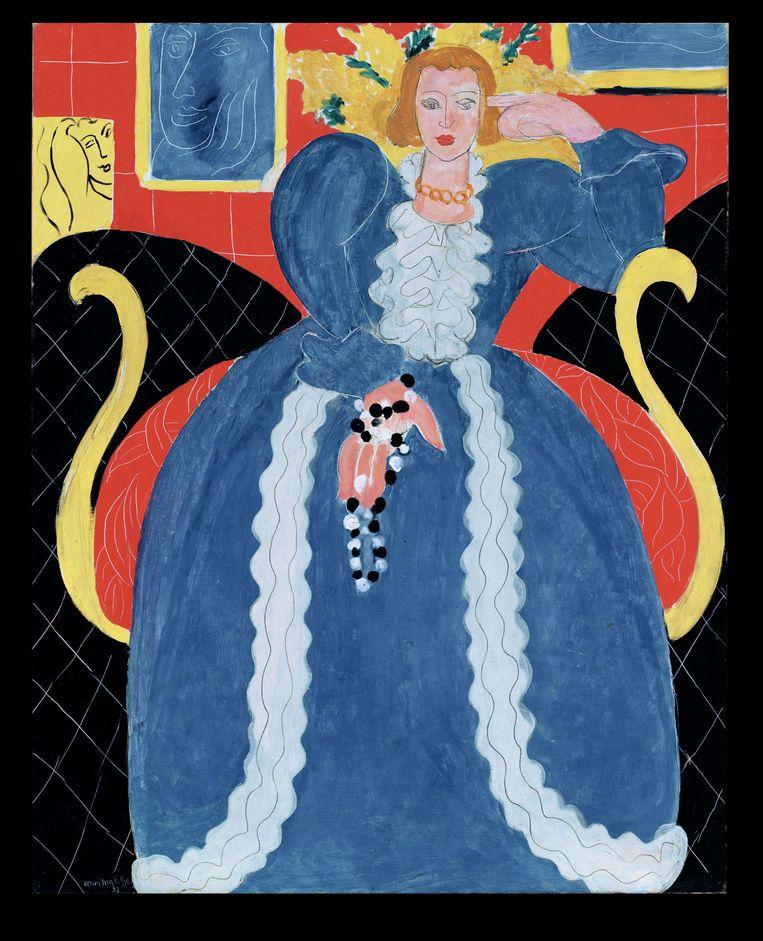 Femme en Bleu, 1937. Beeld Philadelphia Museum of Art