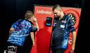 Martijn Kleermaker eerder dit jaar op de UK Open in Minehead. Het was een van de laatste toernooien voor de coronacrisis ook Engeland lamlegde.