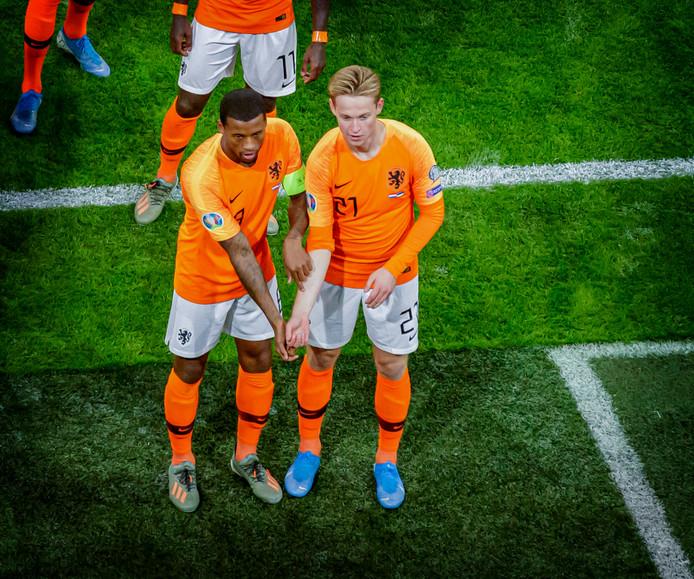 Georginio Wijnaldum en Frenkie de Jong maakten dinsdagavond een mooi statement.