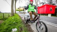 """80-jarige Julien ruimt zwerfvuil op met driewieler, soms twee keer per dag: """"Bluuvn goan!"""""""