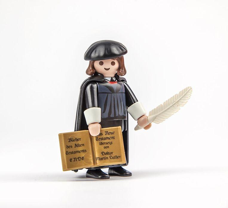 Luther-koopwaar van Playmobil. Beeld