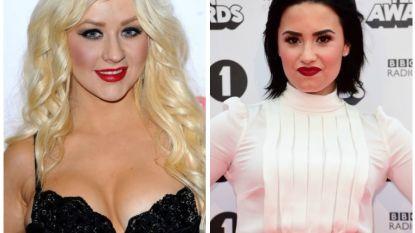 Christina Aguilera en Demi Lovato duiken samen de studio in