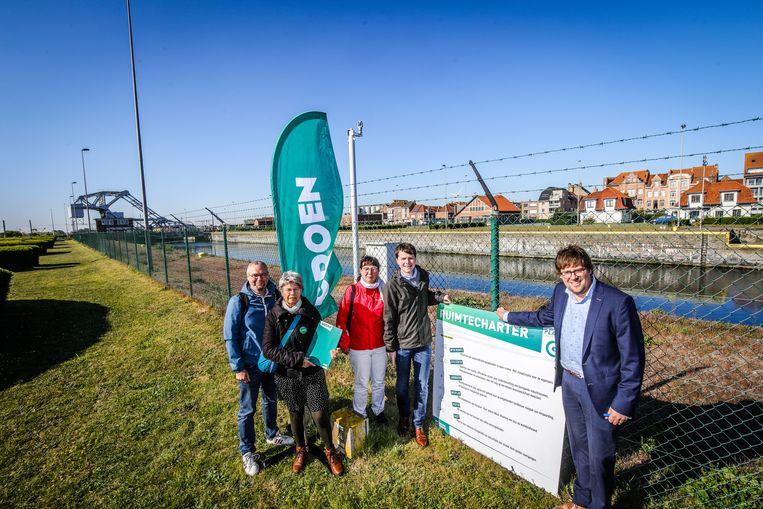 Zeebrugge actie groen aan Visartsluis
