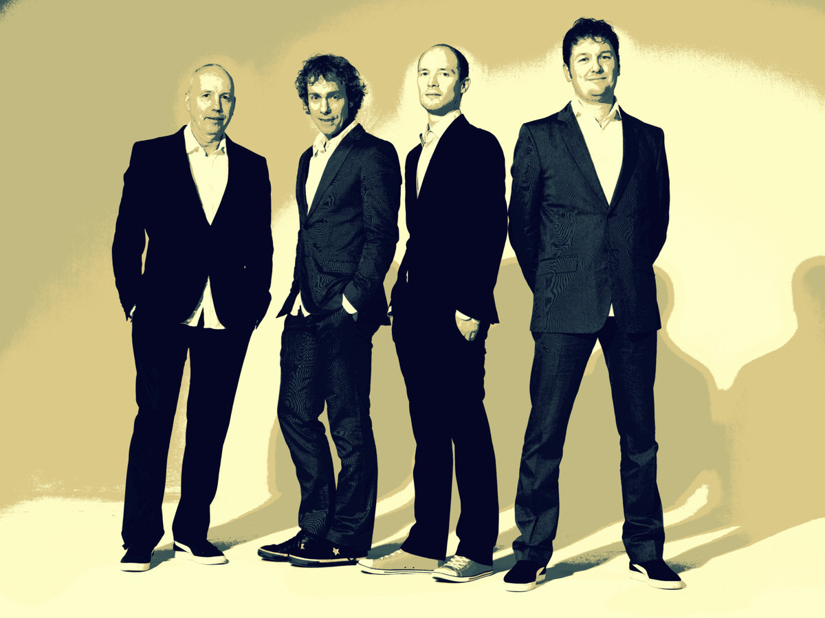 De Eindhovense band BeApple (vlnr): Cees van Rooden, Rik van Stiphout, Niels Tiebosch en Alain Leijtens.