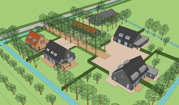 Er verschijnen zes nieuwe woningen aan de Heereweg in Noordgouwe.