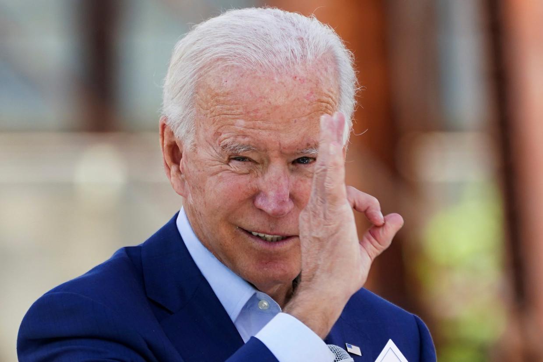 De Democratische presidentskandidaat Joe Biden (77) tijdens een bijeenkomst in Noord Carolina vorige week, waar hij op campagne was.