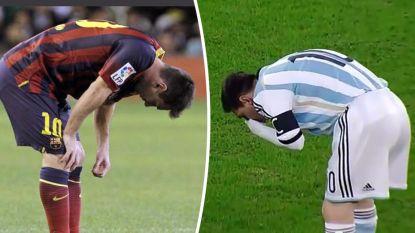 Messi verklapt straffe reden waarom hij enkele jaren geleden zo veel moest braken op het veld