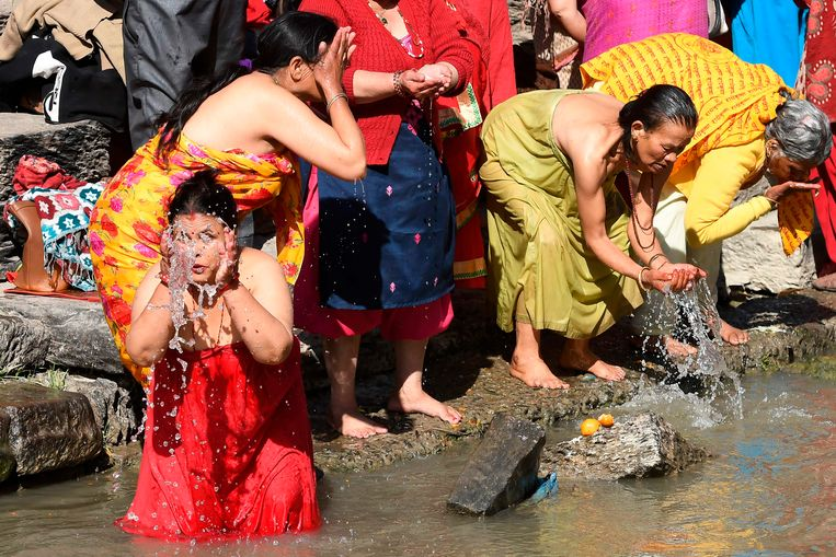 Hindu in het Nepalese Kathmandu.