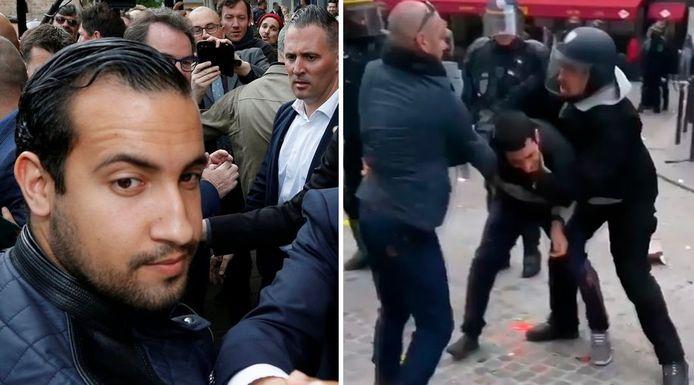 Alexandre Benalla, de veiligheidsmedewerker van de Franse president Macron.