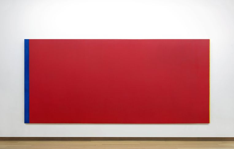 Barnett Newman: Who's Afraid of Red, Yellow and Blue III, 1967-1968. Beeld Collectie Stedelijk Museum Amsterdam