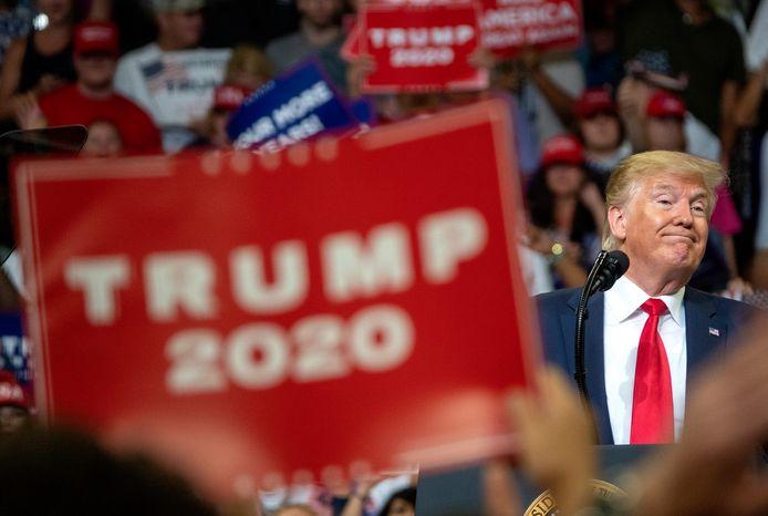 Trump op een campagne-event vorige maand in Florida.