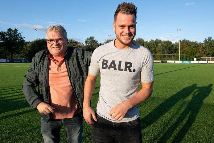 Henk van Hattum met zijn zoon Menno.