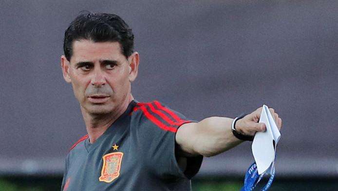 Fernando Hierro à l'entrainement