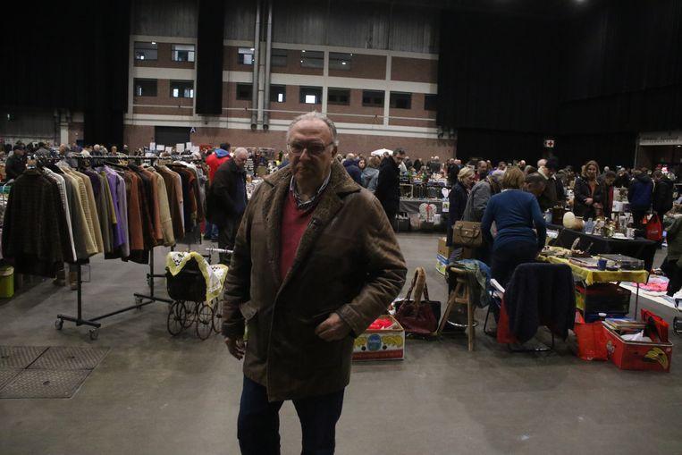 Ruim 1.800 bezoekers op twintigste editie grote brocanterie indoor. Organisator Daniel Van den Hoeck was tevreden.