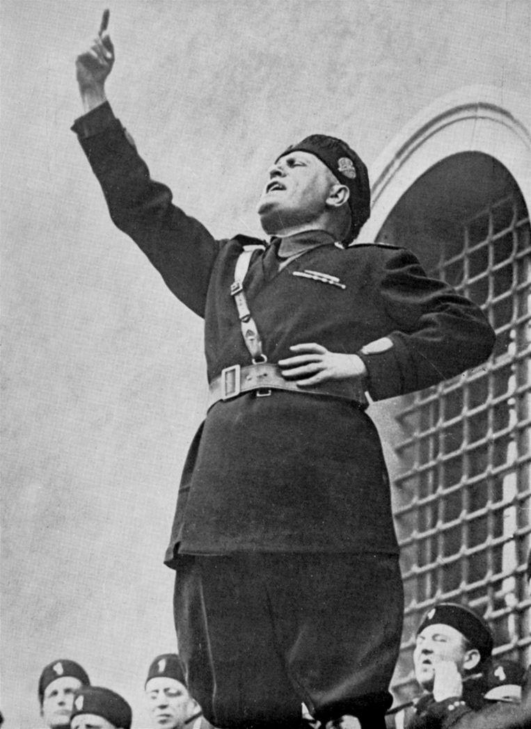 Benito Mussolini in 1922, het jaar dat hij de macht greep. Beeld Getty