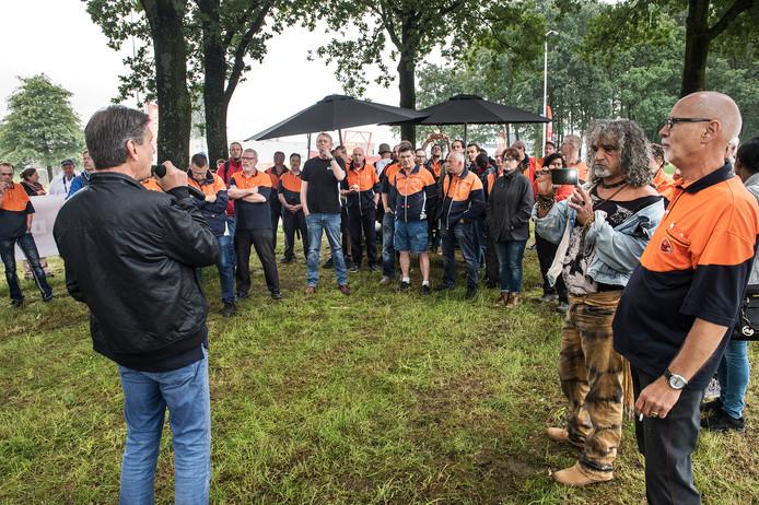 Een eerdere actie van PostNL-medewerkers in 2016 te Nijmegen