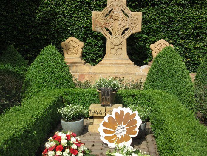 De marigold op de begraafplaats in Huissen