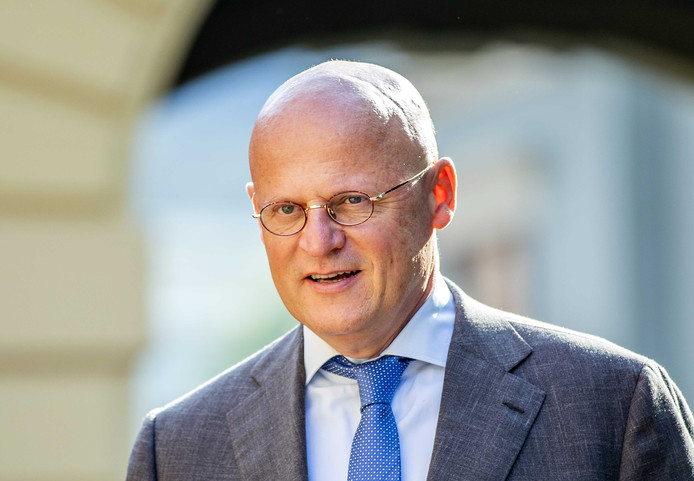 Ferdinand Grapperhaus, minister van Justitie en Veiligheid, vandaag op het Binnenhof.