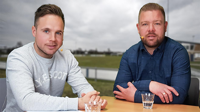 Juriën Dam en Barry van der Hooft (rechts).