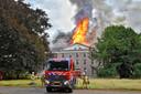 De grote brand op landgoed Haarendael in Haaren.