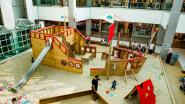 Zandkastelen bouwen in Shopping Center