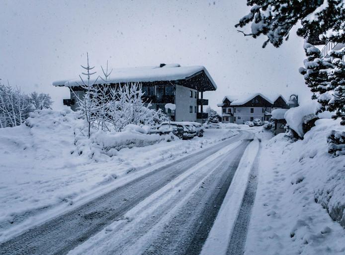 Maarten Relker uit Twello schoot dit winterse plaatje in Flachau.
