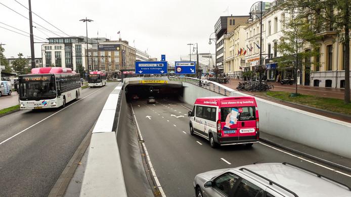 De Willemstunnel in het centrum van Arnhem.