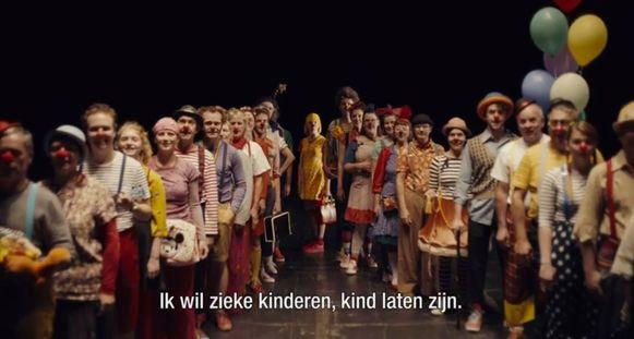 De clowns van de vzw Kloen waren te zien in de reclamespot voor de Warmste Week.