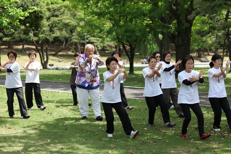 Erica op Reis in Japan Beeld anp