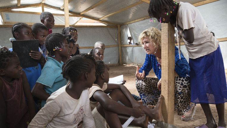 Cordaid-directeur Simone Filippini in de Centraal Afrikaanse Republiek, 2014. Beeld null