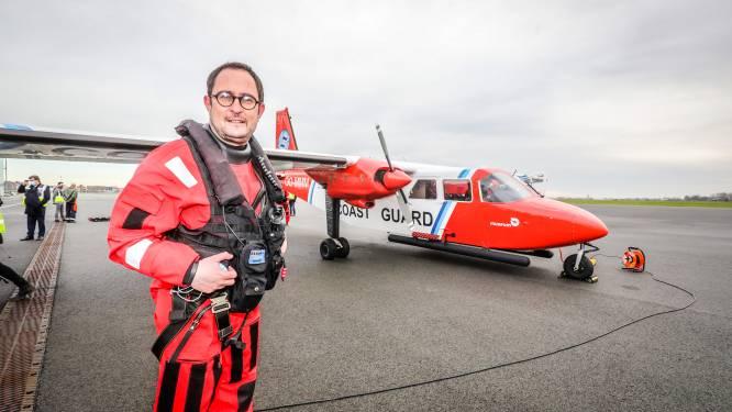 Belgische kustwacht controleert lage-emissezone op de Noordzee met sniffervliegtuig