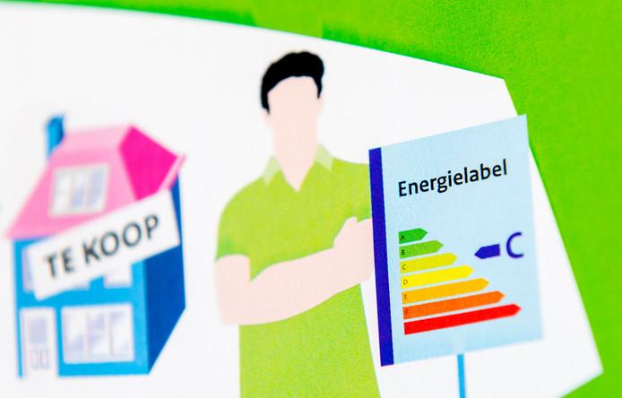 Een folder met uitleg over de energielabel voor woonhuizen.