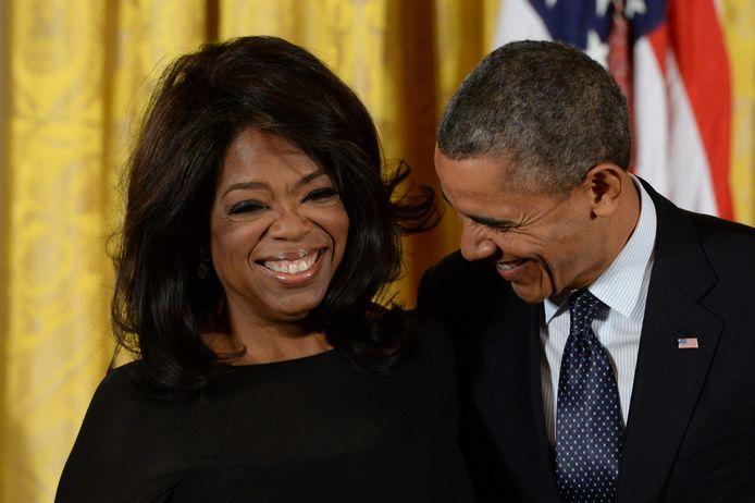 Barack Obama en Oprah Winfrey