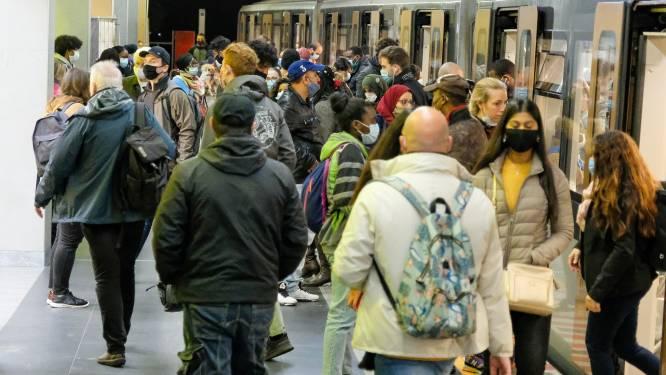 Brussels openbaar vervoer zat voor verstrenging aan 60 procent van normale bezettingsgraad