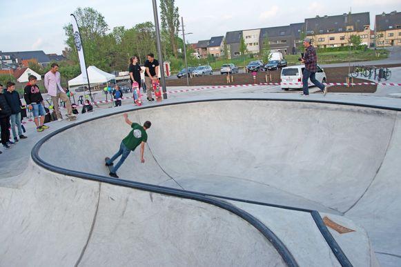 Het spectaculaire skate-park is de absolute blikvanger op de nieuwe Borcht-site.