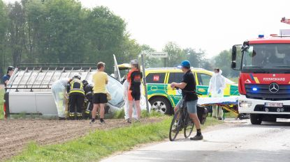 Chauffeur gewond bij ongeval in Kloosterstraat in Kruisem