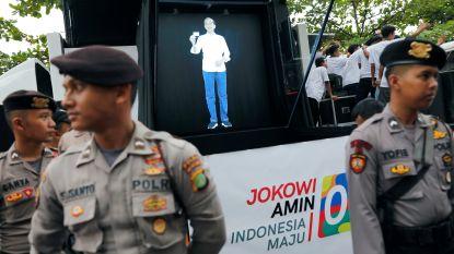 'Beam me up': Indonesische presidentskandidaat verschijnt als hologram om kiezers te lokken