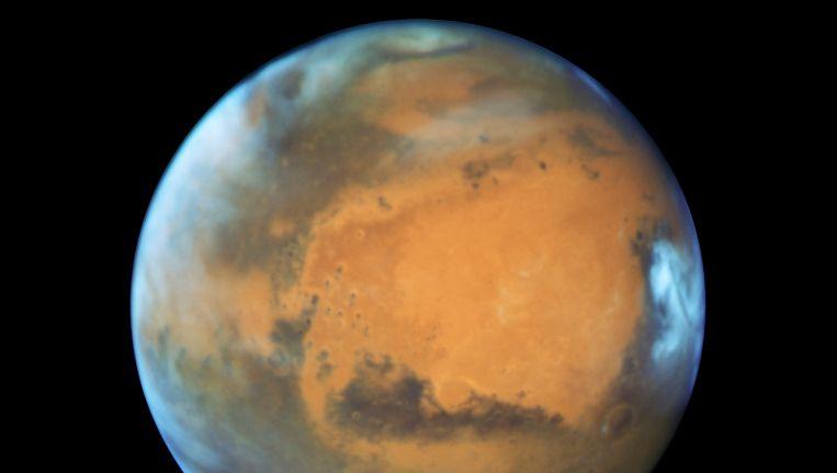 Een recent NASA-beeld van Mars.
