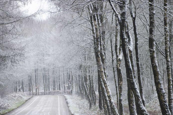 Een dun laagje sneeuw, eerder dit jaar in Zuid Limburg.