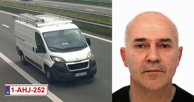 Johan Van der Heyden is sinds 2 juni vermist. Zijn witte bestelwagen werd het laatst gezien door snelwegcamera's.