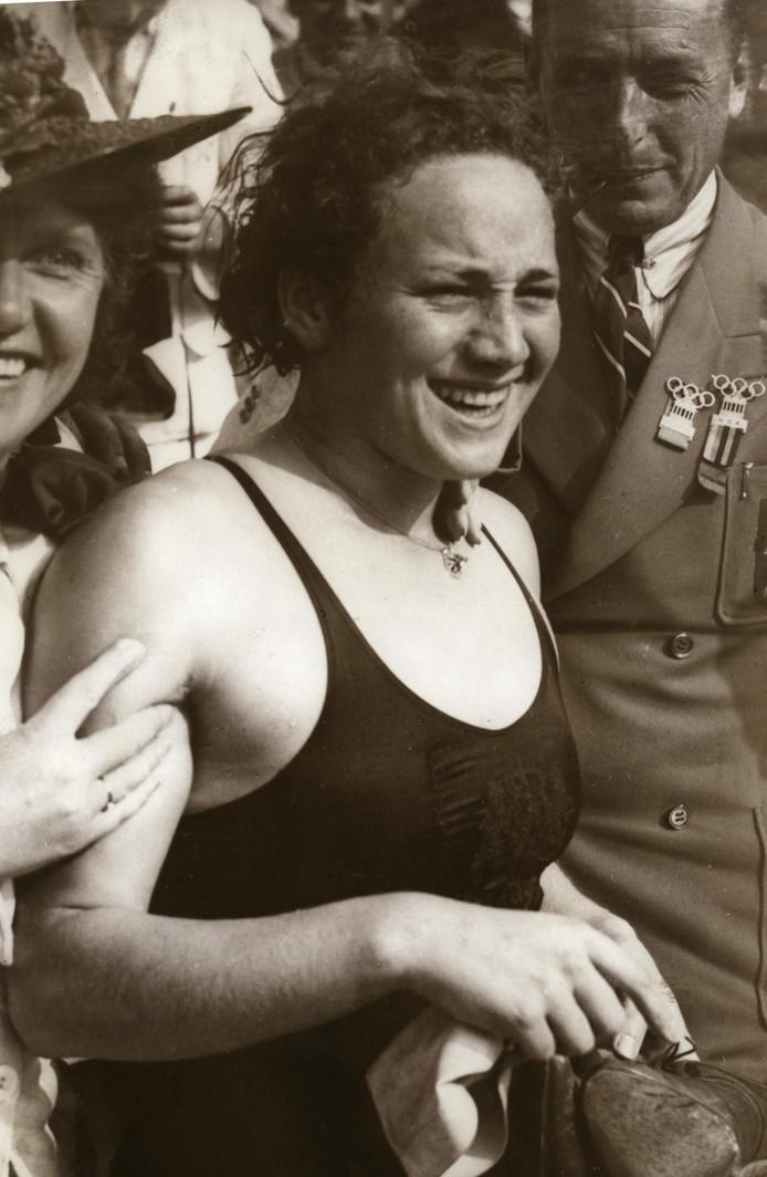 Rie Mastenbroek op de Spelen van 1936.