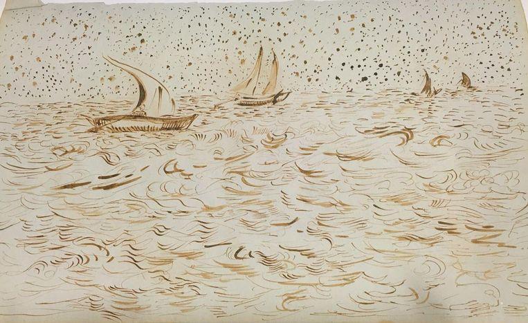 'Van Goghs schetsen'. 'Slappig gedaan, aarzelend, alsof hij tijdens het tekenen naar een voorbeeld heeft zitten kijken.' Beeld