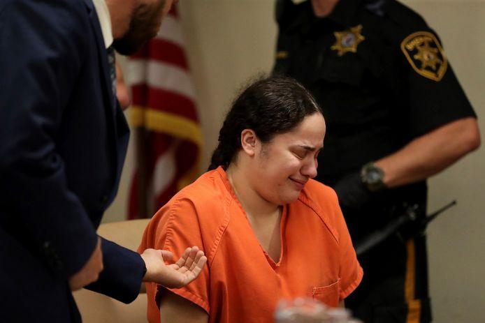 Een huilende Amanda Ramirez (27)  werd donderdag voor het eerst voor een rechter gebracht.