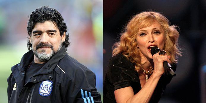 Er was verwarring op Twitter tussen Diego Maradona en zangeres Madonna.