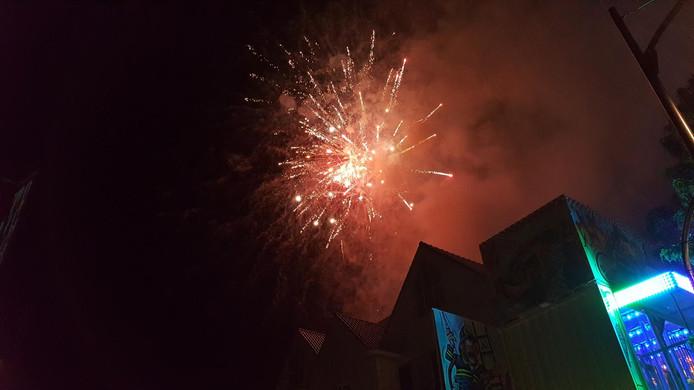De vuurwerkshow was woensdag de afsluiter van de Goirlese kermis.